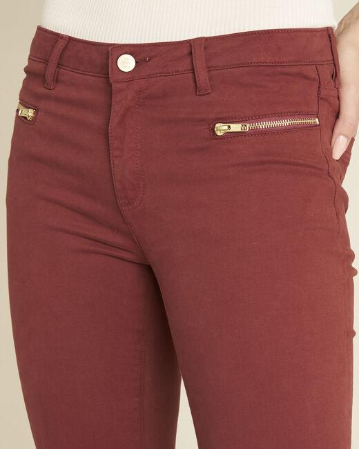 Germain mahogany straight-cut jeans with zipped pockets (2) - 1-2-3