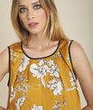 Canette floral printed yellow blouse with tie at the back PhotoZ | 1-2-3