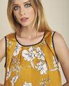 Gele blouse met bloemenprint en strik achteraan Canette (2) - 37653