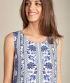 Pistil navy blue printed dress in silk PhotoZ | 1-2-3