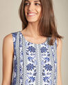 Pistil navy blue printed dress in silk (1) - 1-2-3