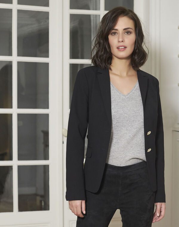 Veste noire blazer Eve (1) - 1-2-3