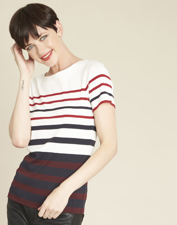 Gasayat stripy T-shirt with rounded neckline (1) - 1-2-3