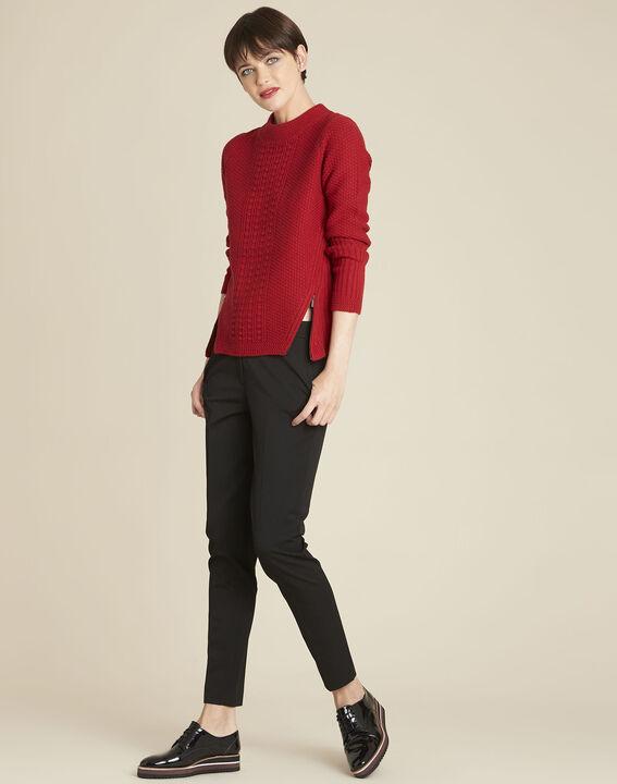 Rode trui met hoge kraag van gemengd wol Brindille (2) - 37653