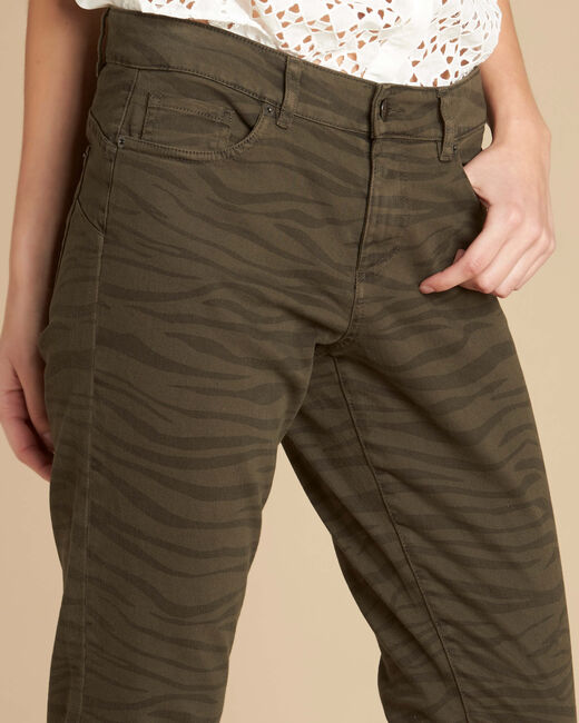 Slim Fit-Jeans mit Zebra-Print Passy (2) - 1-2-3