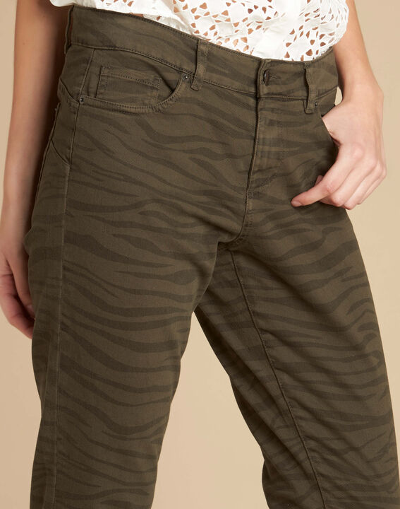 Slim Fit-Jeans mit Zebra-Print Passy (1) - 1-2-3