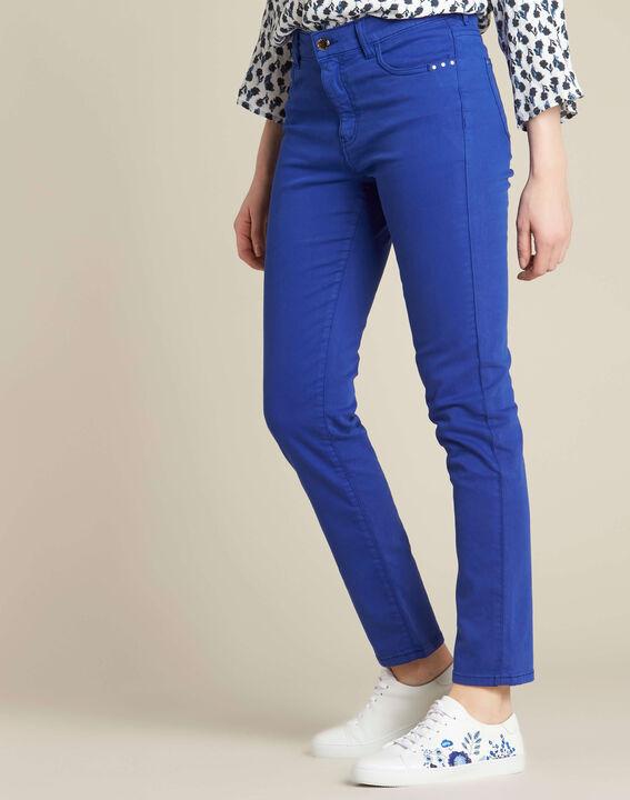 Königsblaue Slim-Fit-Jeans normale Leibhöhe Vendome (3) - 1-2-3