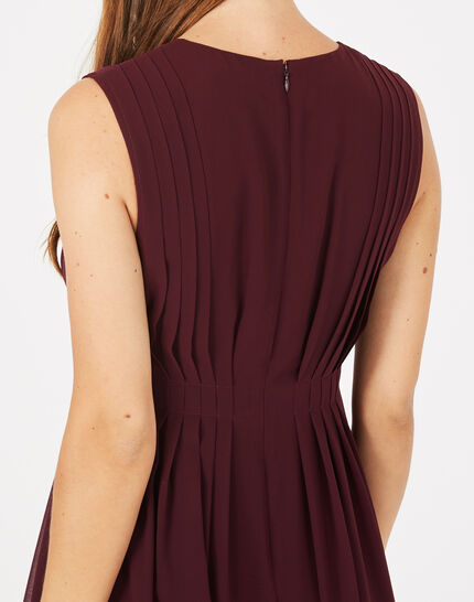 Giselle dark red pleated dress (4) - 1-2-3