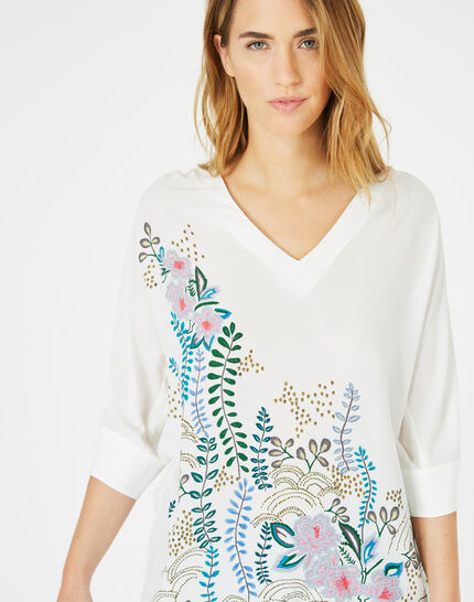 Dune printed blouse with bare shoulders PhotoZ | 1-2-3