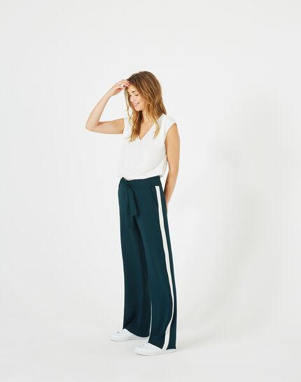 Pantalon vert foret fluide bande côté Kamelia (2) - 1-2-3