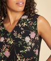 Geptune black print dual-fabric blouse PhotoZ | 1-2-3