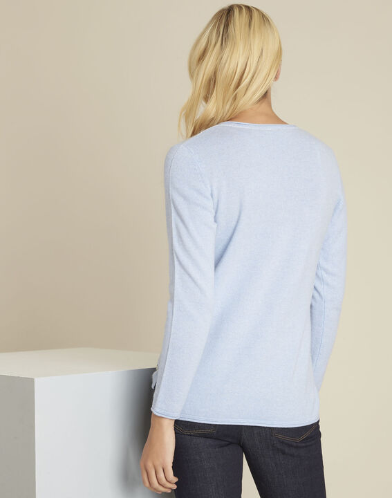 Boogie azure blue wool cashmere pullover (4) - 1-2-3