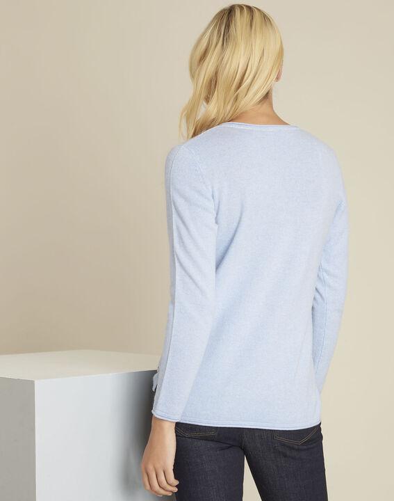 929f99a0b3417 ... Pull bleu azur laine cachemire boogie (4) - 1-2-3