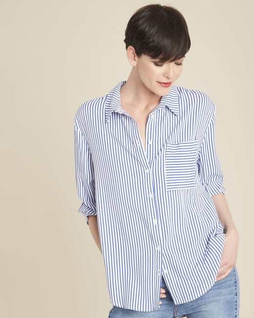 Darwin striped blouse in an oversized cut (2) - 1-2-3