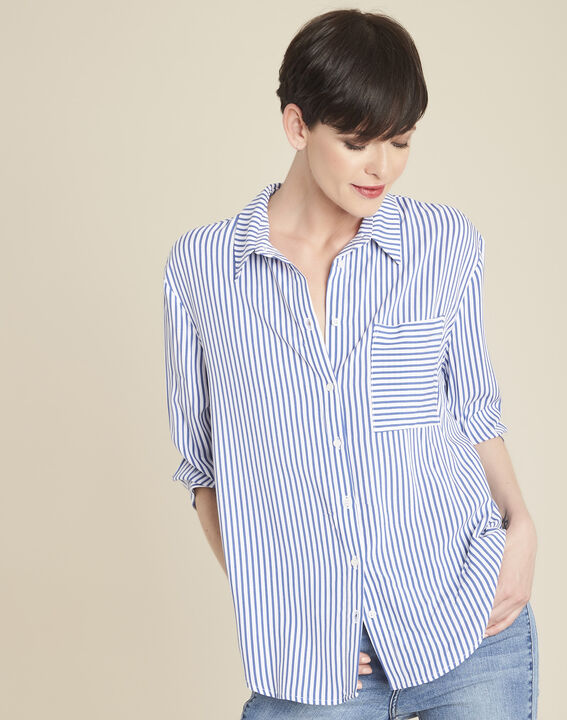Darwin striped blouse in an oversized cut PhotoZ | 1-2-3