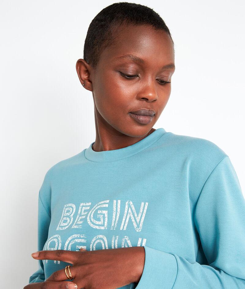 Sweat-shirt à message bleu ciel Eole PhotoZ | 1-2-3