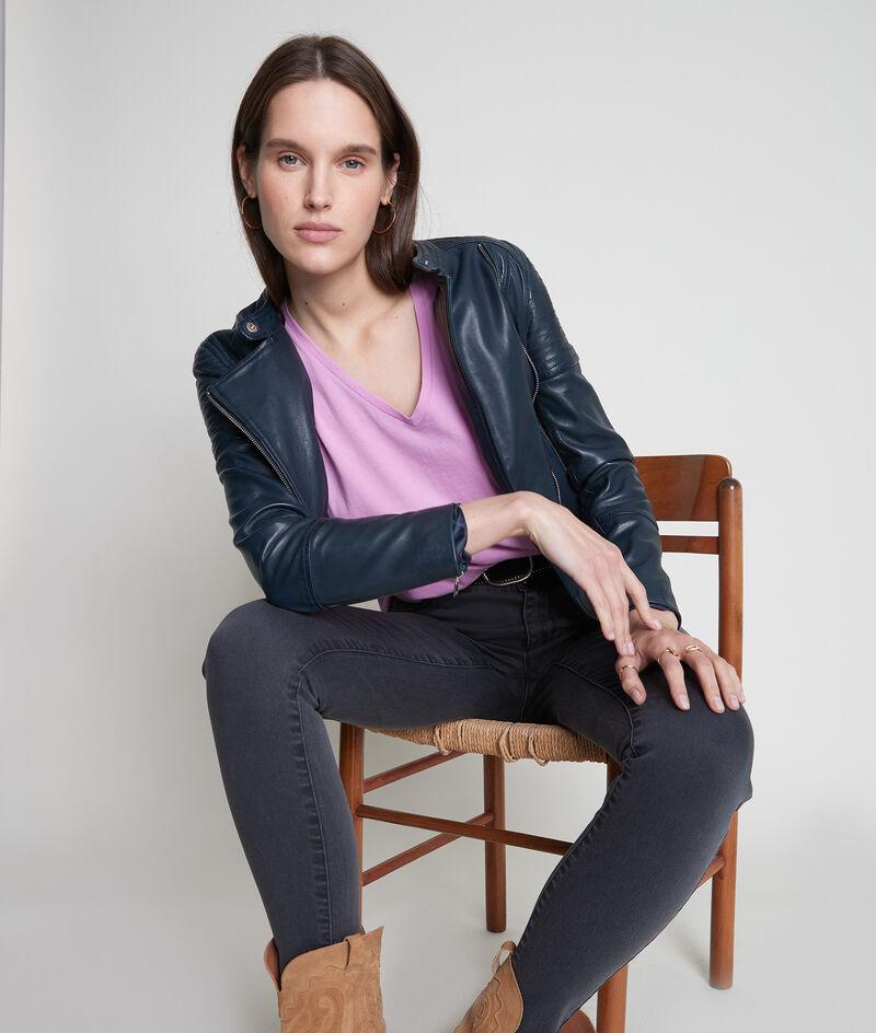 Tee-shirt en coton bio rose parme Ideal PhotoZ | 1-2-3