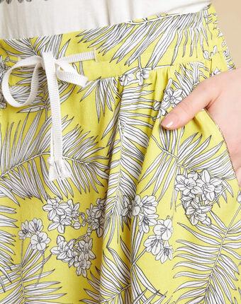 Gele rok met print lutin citron.