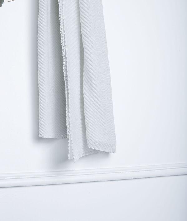 Foulard plissé écru Greta PhotoZ   1-2-3