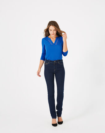 Jean slim brut william indigo fonce.
