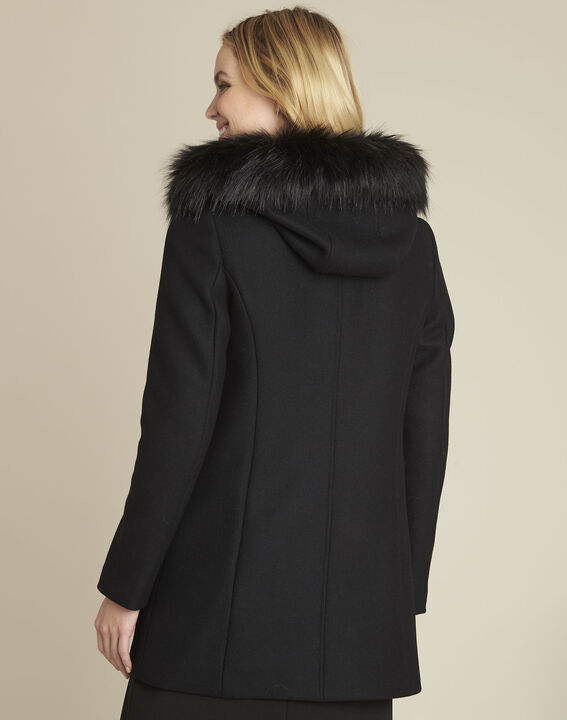 Black wool coat with Perfecto-style collar (4) - 1-2-3