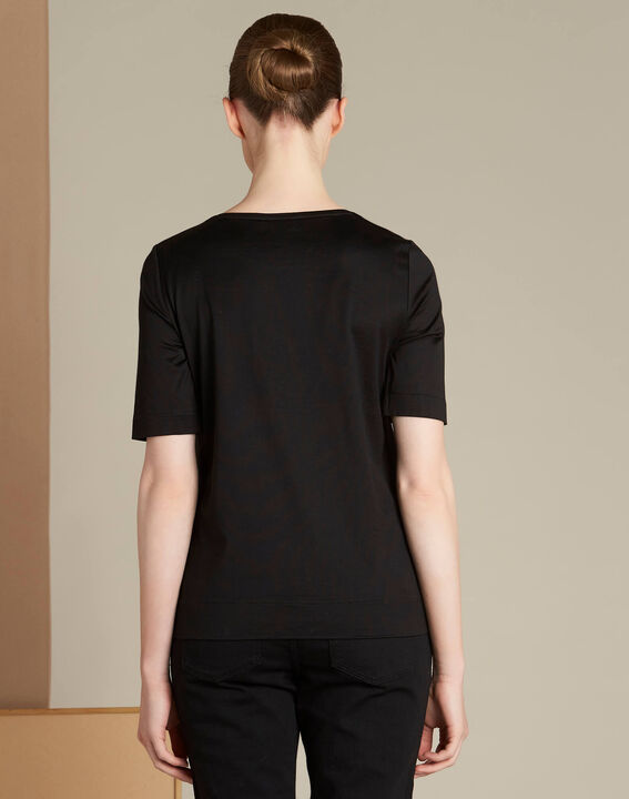 Ellipse black T-shirt with 1.2.3. embroidery (4) - 1-2-3