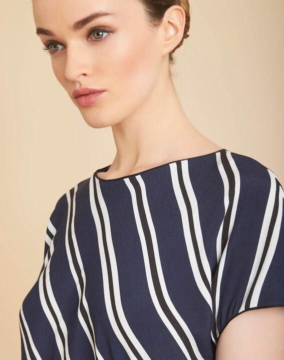 Marineblaues Streifen-T-Shirt Gavin PhotoZ | 1-2-3
