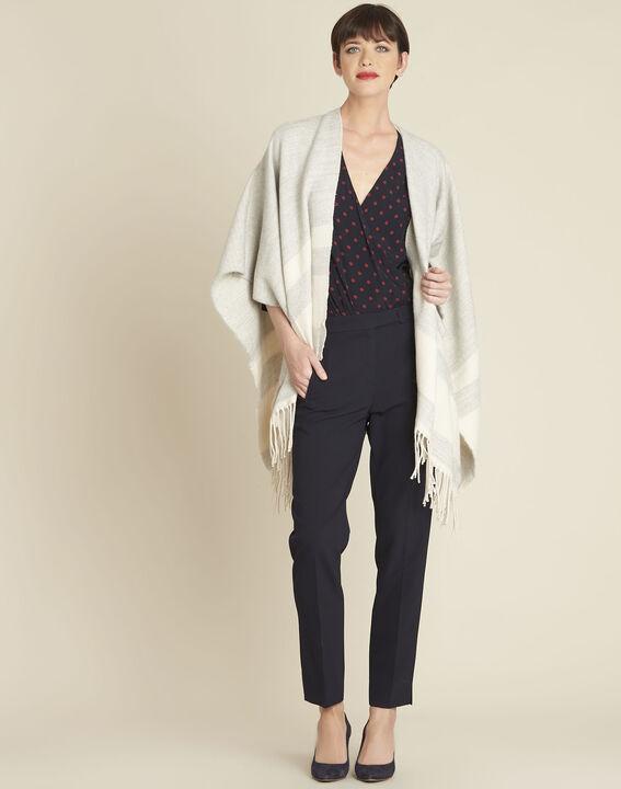 Calme navy polka dot crossover blouse (2) - 1-2-3