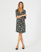 Dowen olive green printed dress <br /> olive.