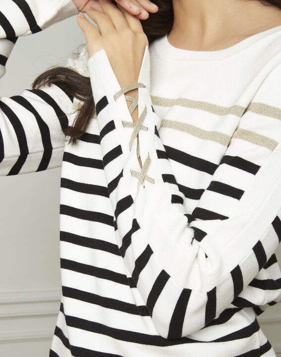Amiral pullover with stripes and lacing details (4) - 1-2-3