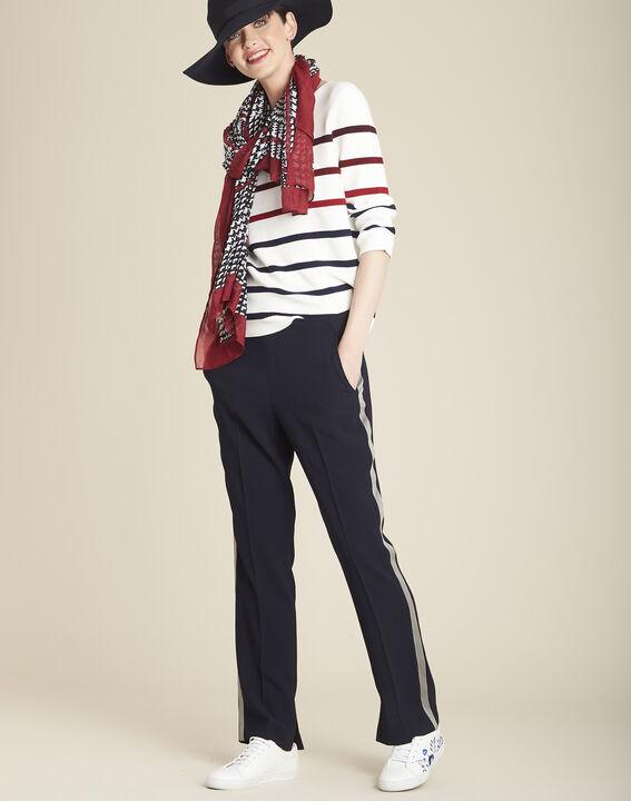 Berlingot ecru striped jumper (3) - 1-2-3