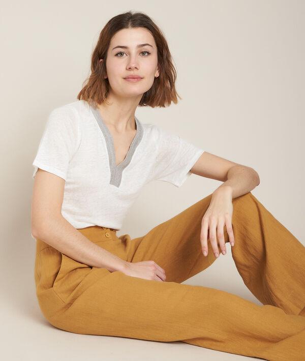 Tee-shirt en lin blanc Rwana PhotoZ | 1-2-3
