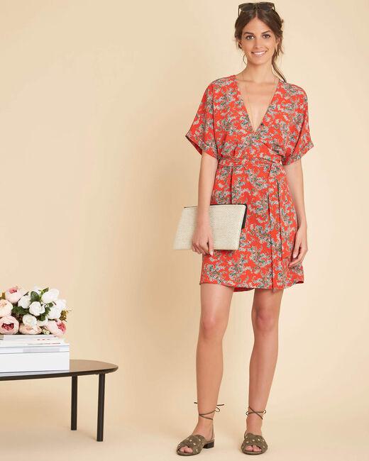 Rotes Kleid mit Blumenprint Patience (1) - 1-2-3