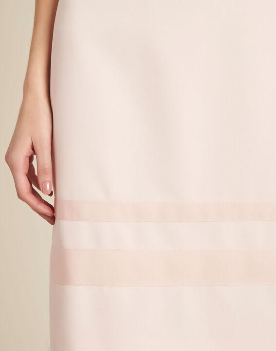 Robe nude droite microfibre Abricot PhotoZ | 1-2-3
