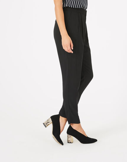 Daria black crepe trousers (5) - 1-2-3