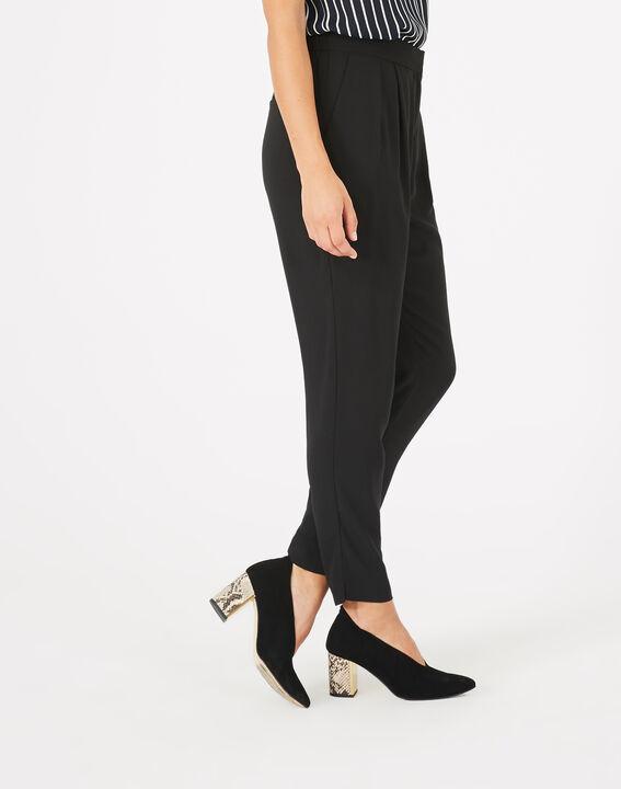 Pantalon noir en crêpe Daria (5) - 1-2-3