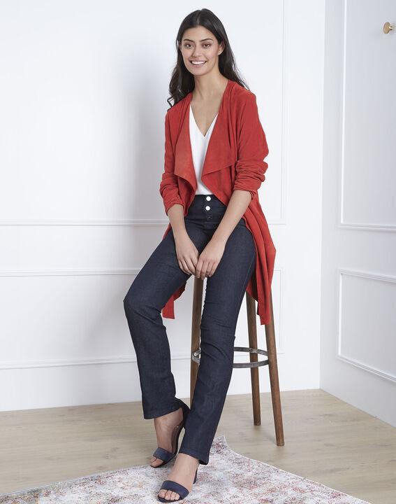 Geradegeschnittene Jeans mit Knopfleiste. PhotoZ | 1-2-3