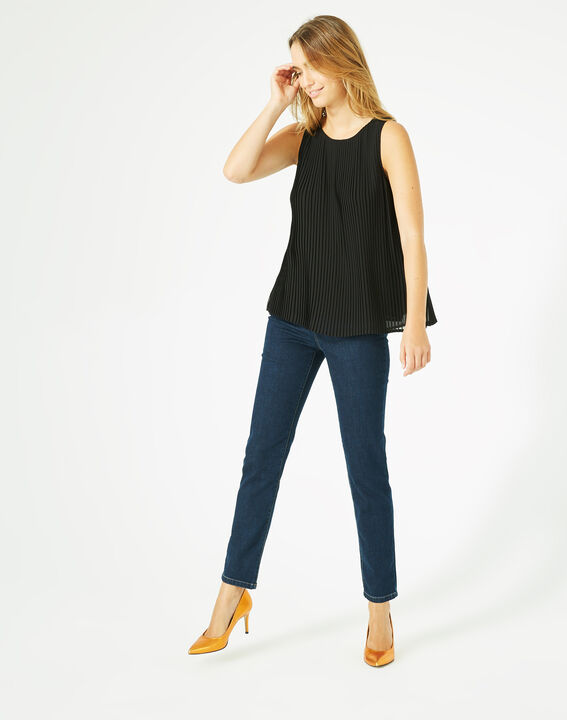 Top plissé noir Erica (3) - 1-2-3