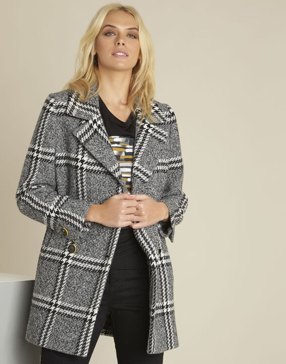 Joshua black Prince of Wales print coat PhotoZ | 1-2-3