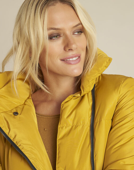 Poline short yellow down jacket with side zip (3) - Maison 123