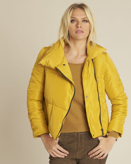 Poline short yellow down jacket with side zip (2) - 1-2-3