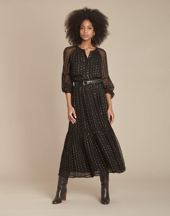 Robe longue noire en lurex Rosane PhotoZ   1-2-3