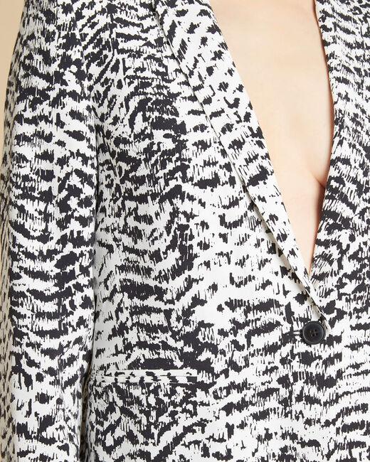 Veste noir & blanc imprimée Demoiselle (2) - 1-2-3