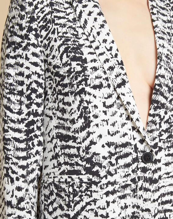 Demoiselle black and white printed jacket (1) - 1-2-3