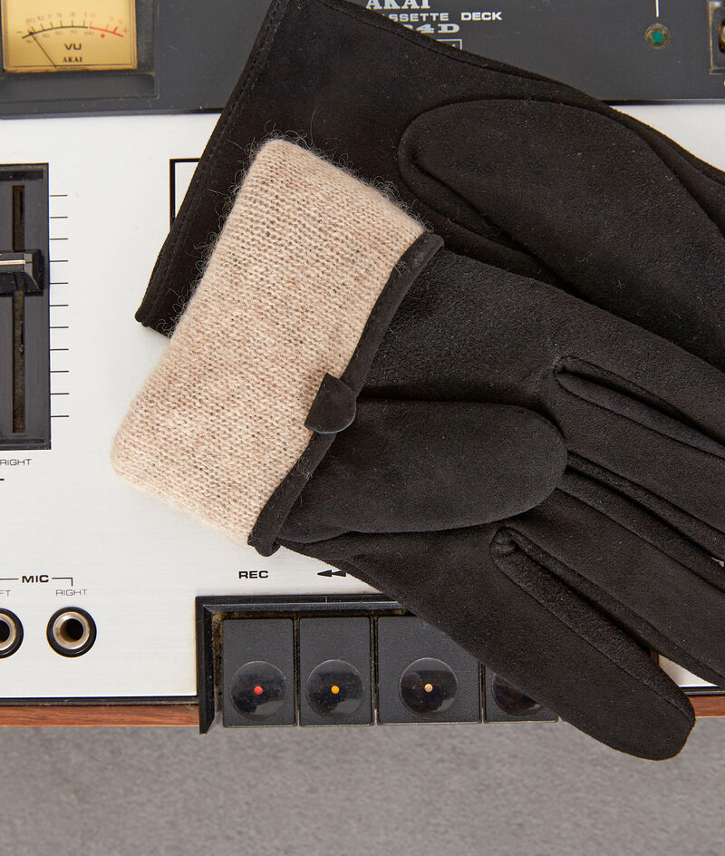 Gants en cuir velours noirs Will PhotoZ | 1-2-3