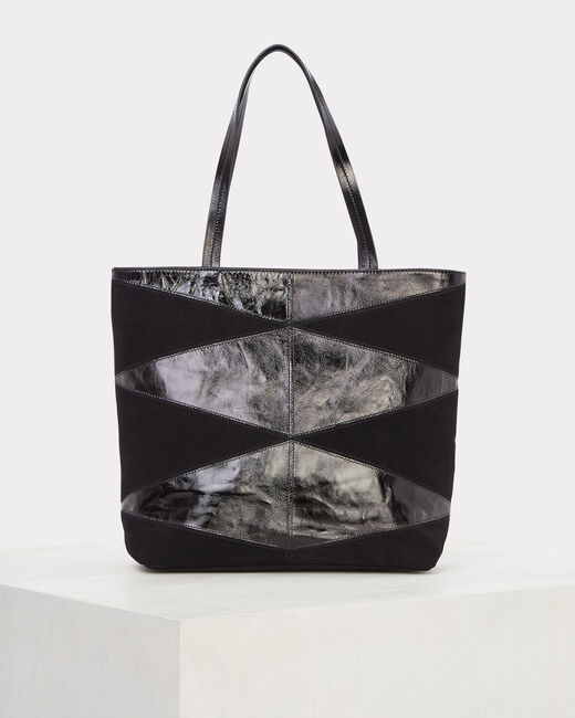 Rafi dual-fabric black bag (2) - 1-2-3