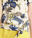 Edgee beige printed blouse with bow at the bottom PhotoZ | 1-2-3