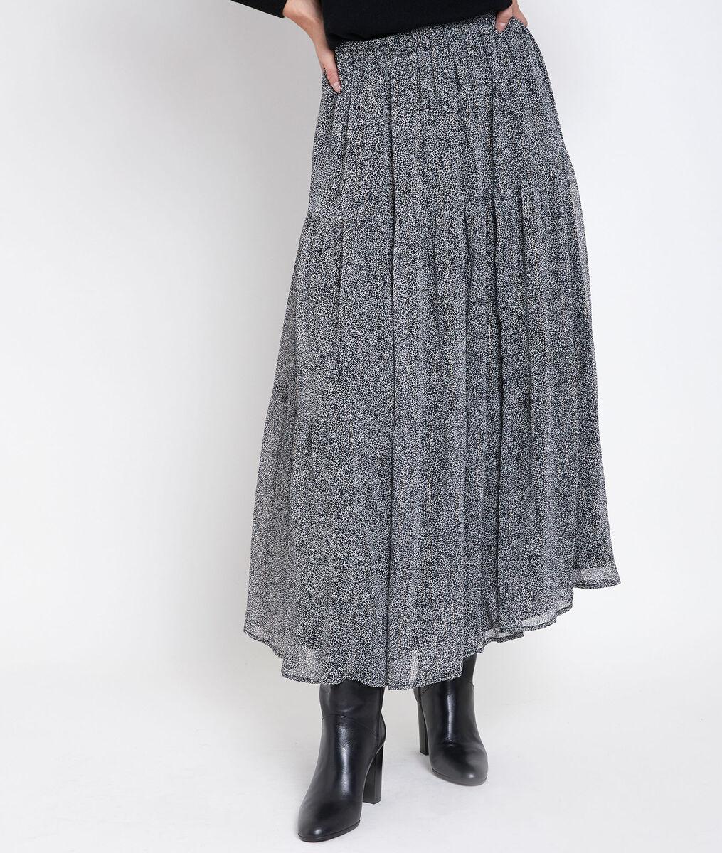 Jupe longue imprimé tacheté Ginko PhotoZ   1-2-3