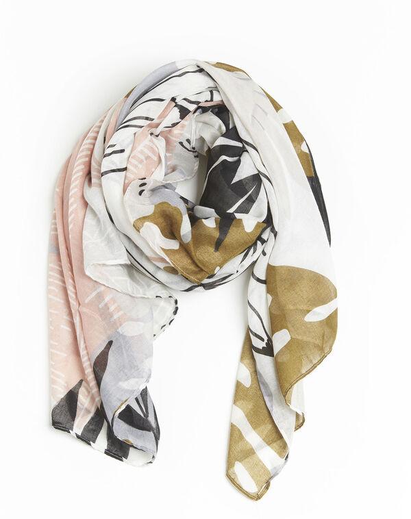 Roze sjaal met print Frivole (2) - 37653