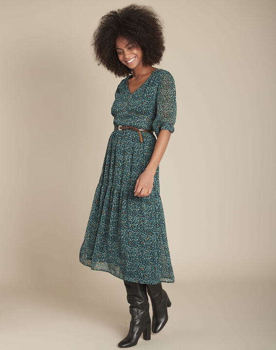 Robe longue imprimée Ivanka PhotoZ | 1-2-3